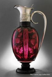 Gorham cranberry claret jug - 1888