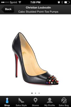 Love for Loubs. Cabo studded point toe pumps. Gorgeous!