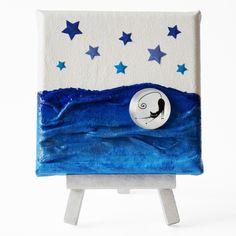 Stretching (Nyújtózkodás) - 10 x 10 cm (10 x 14 cm), 2018 #paverpol #textile #textil #acrylic #akril #vivienholl #stars #csillagok #cat #macska #night #éjszaka Minion, Techno, Chair, Furniture, Home Decor, Decoration Home, Room Decor, Minions, Home Furnishings