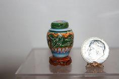 Pat Venning - Porcelain Ginger Jar on Porcelain Asian Base