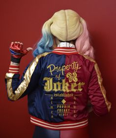 Harley Quinn Suicide Squad embroidered jacket cosplay custom made costume