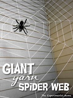 DIY Giant Spider Web : Check this out and other cool websites HERE!