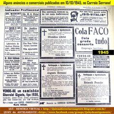 IJUÍ - RS - Memória Virtual: Alguns anúncios e comerciais publicados no jornal ...