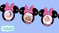 Minnie Mouse First Year Photo Banner / 12 by HeartsandCraftsy