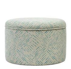 Breeze Surf Ottoman - 45cm diameter x H 30cm / Green / Cotton