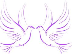 Gallery For > Doves Drawing | Church Banners to make ...