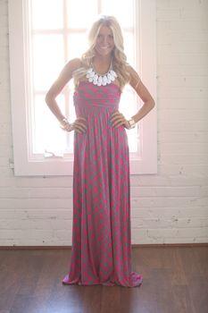 ~So Beautiful To Me Maxi Dress Fuschia - Modern Vintage Boutique