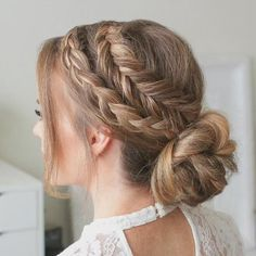 Easy Hairstyle Video, Easy Hairstyles For Long Hair, Braids For Short Hair, Hairstyles Haircuts, Hairstyles Videos, Hairstyles For Working Out, Braided Hairstyles For Short Hair, Cute Hairstyles For Teens, Party Hairstyles