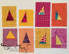 "Quilty Circle of Bees - September/ October ""Improv Triangles"" | mell-meyer.de"