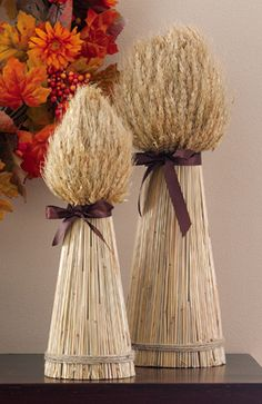 Decorative Harvest Wheat Bundles For Fall Entertaining Fall Crafts, Diy And Crafts, Vase Deco, Home Decor Catalogs, Fall Decor, Holiday Decor, Holiday Parties, Collections Etc, Deco Floral