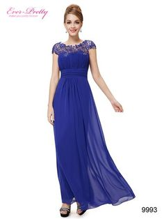 Embellished Open Back Royal Blue Lace Chiffon Evening Gown Evening Dresses Online, Evening Dresses For Weddings, Chiffon Evening Dresses, Cheap Evening Dresses, Ball Gown Dresses, Prom Dresses Blue, Prom Party Dresses, Bridesmaid Dresses, Mob Dresses