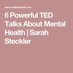 6 Powerful TED Talks About Mental Health – Sarah Steckler Health Class, Health Education, Ill Be Okay, Fat Burning Yoga, Working On Me, Counseling Psychology, Good Mental Health, Yoga For Weight Loss, Fitness Motivation Quotes