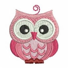 Ace Points Embroidery Design: Cute Owl 1.97 inches H x 1.67 inches W