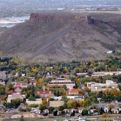 There are some super short hikes up to the top of table top mountain in Golden, CO. Once you get up there you can see the whole city and it's pretty flat. Bring a picnic and a Frisbee for some fun. Great for a group date :)