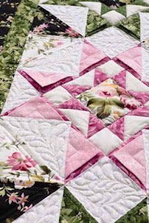 Great tutorial/video for making prairie points within the quilt and a really cool border!