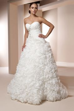 Claudine Wedding Dresses - Alyce Paris - Style #7821 HOLLY - Available colours : White, Ivory