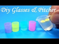 DIY Miniature Realistic Glasses (Cups) & Pitcher - YouTube