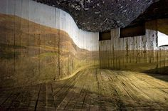 asier gogortza.  using the World War II bunkers to make an incredible pinhole photography installation
