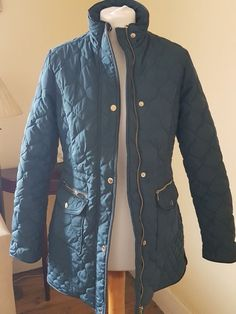 NEW Monsoon Teal  Green Quilted Jacket UK Size 8  fashion  clothes  shoes   accessories  womensclothing  coatsjacketswaistcoats (ebay link) afe23f6ce