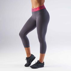 a04ce11bac26d Gymshark Fit Cropped Legging - Charcoal/Cranberry at Gymshark UK | Be a  visionary.