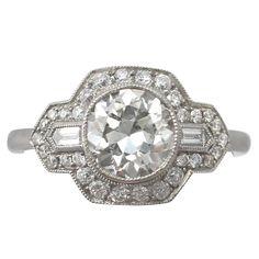 2.12Ct Diamond & Platinum Dress Ring - Art Deco Style - Antique & Contemporary 1