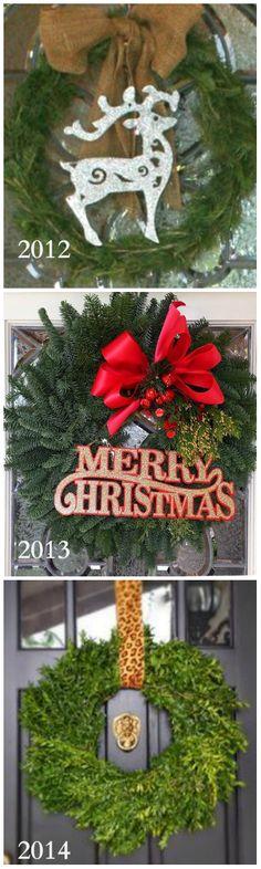 Pomysły na Świąteczną dekoracje na drzwi :)