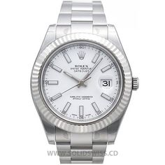 Rolex Datejust SS White CASE Oversized 41mm, solid 904L steel, 18K white gold PVD plated MOVEMENT Rolex Swiss Clone 3156, mechanical, self-winding, Nano-Oil lubed DIAL SuperLuminova™ markers BEZEL Fluted Fixed (does not move) WATER-RESISTANCE Waterproof to 50 meters, screw down crown with rubber seals CRYSTAL Swiss Sapphire anti-reflective, Cyclops 2.5x
