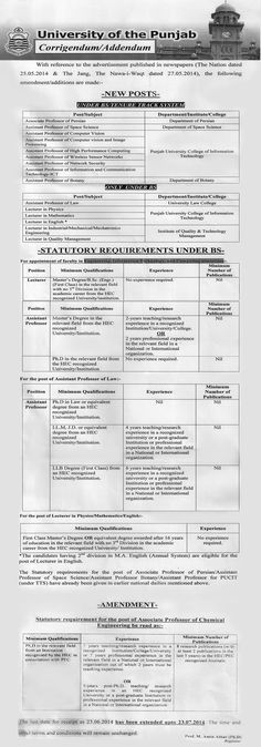 Jobs in University Of Punjab #Lahore For #jobs detail and how to apply: #paperpk http://www.dailypaperpk.com/jobs/214178/jobs-university-punjab-lahore