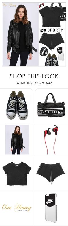"""""""One Honey Boutique (#4)"""" by shambala-379 ❤ liked on Polyvore featuring Converse, JBL and NIKE"""