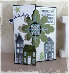 stampin up snowflake card thinlits Create Christmas Cards, Christmas Mom, Stampin Up Christmas, Christmas Snowflakes, Christmas Snowman, All Things Christmas, Handmade Christmas, Snowflake Cards, Flip Cards