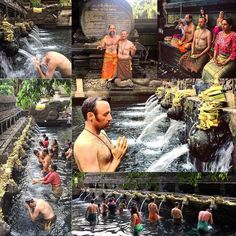 Collage of the Aries New Moon Water Purification Ceremony. . #aries #ariesseason #newmoon #new #moon #temple #ceremony #bali #travel #newbeginnings #newseason #freshstart #thetimeisnow #livefree #liveyourlife #liveyourdreams #explore #exploretocreate