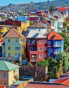 The colorful Valparaíso city in Chile.