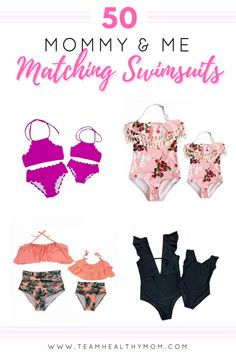 50 adorable mommy and me swimsuits all under $25. These are so fun for moms and daughters to match this summer! #mommyandme #matchingswimsuits #motherdaughter Free Workout Plans, Swimming Photography, Cute Outfits For Kids, Baby Outfits, Mom And Daughter Matching, Swimming Outfit, Ruffle Swimsuit, Cute Swimsuits, Stylish Kids