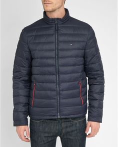 Tommy Hilfiger | Blue Navy Light New Lw Down Jacket for Men | Lyst