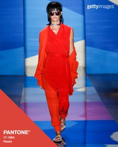 Fiesta rocks the runway at Baja East: Fashion by @gettyimages #Pantone #FashionColorReport #SS16 #NYFW