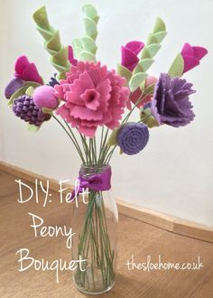 the sloe home - DIY felt peony bouquet tutorial