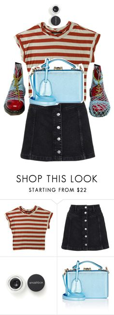 """""""simply"""" by dollieacw ❤ liked on Polyvore featuring Humör, Dr. Martens, Topshop, Smashbox and Mark Cross"""