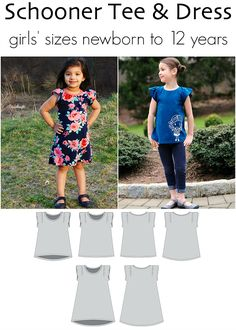 Divided Dress for girls nb to 12 years. Knit dress with colorblocking options and sleeves.