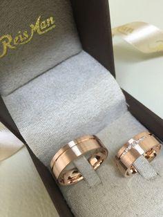 Alianças João Pessoa em ouro Rosé 7mm ♥ Casamento e Noivado em Ouro 18K - Reisman Alianças