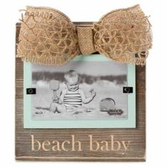"Mud Pie® ""Beach Baby"" 3-Inch x 5-Inch Picture Frame - BedBathandBeyond.com"
