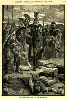 Alexander Reaches The Body Of Darius http://www.alexanderstomb.com/main/imageslibrary/alexander/dardeth1.jpg