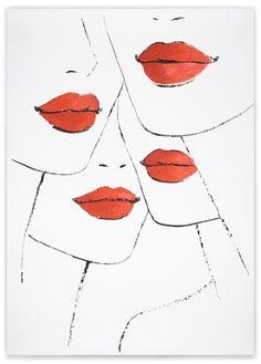 Ah, lips, gorgeous. By Jason Brooks. I love him.