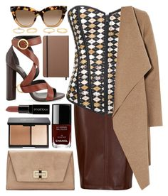"""""""Serious Note"""" by atomic-jane ❤ liked on Polyvore featuring M&S Collection, Harris Wharf London, Diane Von Furstenberg, Tom Ford, Chanel, Smashbox, Shinola, Valentino, women's clothing and women's fashion"""