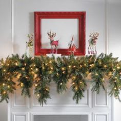I'm going to get my craft on and try making a garland this year...love this one!