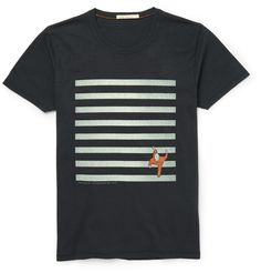 Look closely at the print on this Nudie Jeans T-shirt and you'll see the block stripes represent the parallel lines of a zebra crossing and a gentleman strolling across. Cut slim from soft cotton, this comfortable casual piece is ideal for adding a touch of character to any outfit.