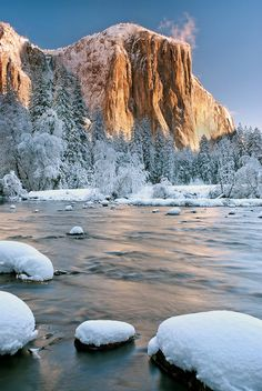 Winter in Yosemite Valley by Jeff Swanson
