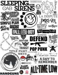Bands Logos, possible tattoos?