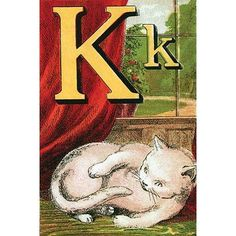 Buyenlarge 'K for the Kitten that plays with its Tail' by Edmund Evans Graphic Art