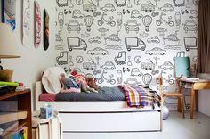 Ideas para decorar una habitación infantil con papel pintado - http://www.decoora.com/ideas-decorar-una-habitacion-infantil-papel-pintado/
