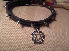 Spike-Halskette / Halsband / gothic mode / von SeducingLucifer